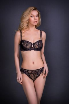 Soutien-gorge soft-cup avec armatures noir/nude Nicole