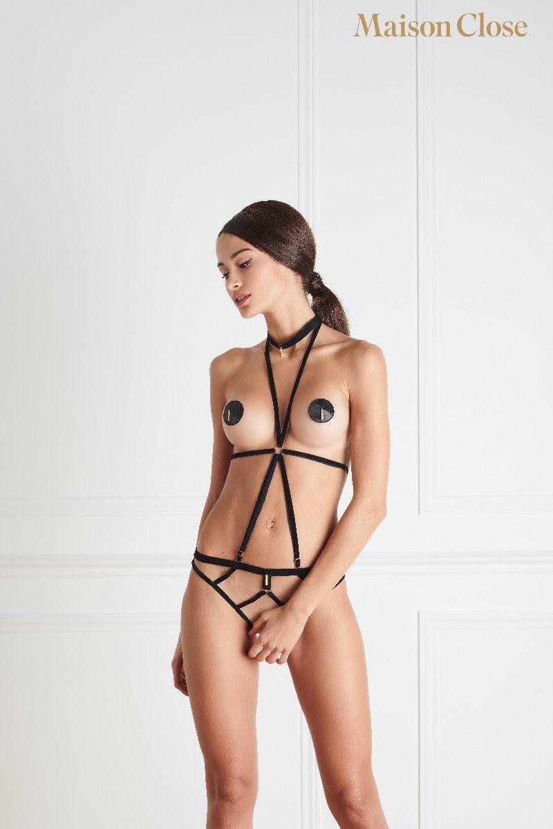 Les Fetiches - Culotte Nue Velour( Avec Gift Pochon Velour)- Noir - Tu