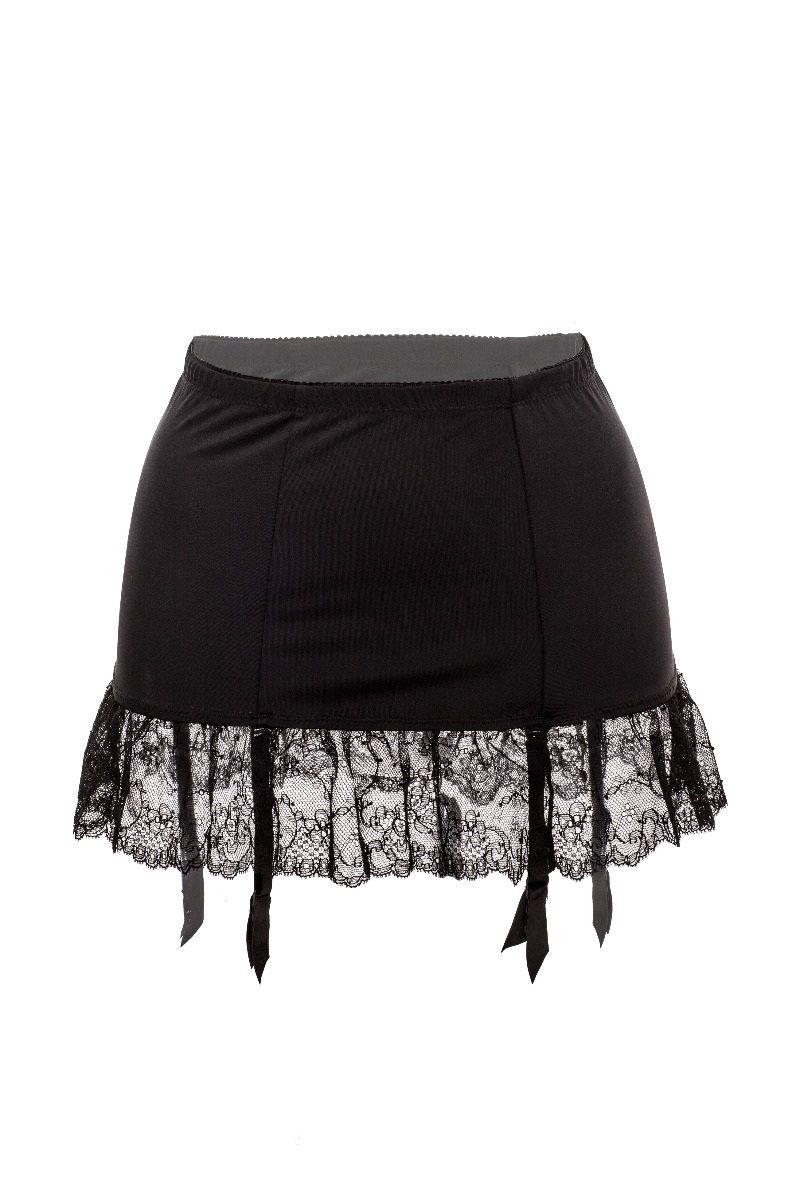 Porte-jarretelles mini-jupe noir Emma