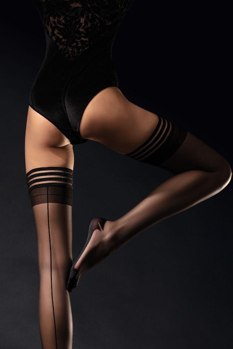 Bas Autofixants avec couture 20 Den Femme Fatale